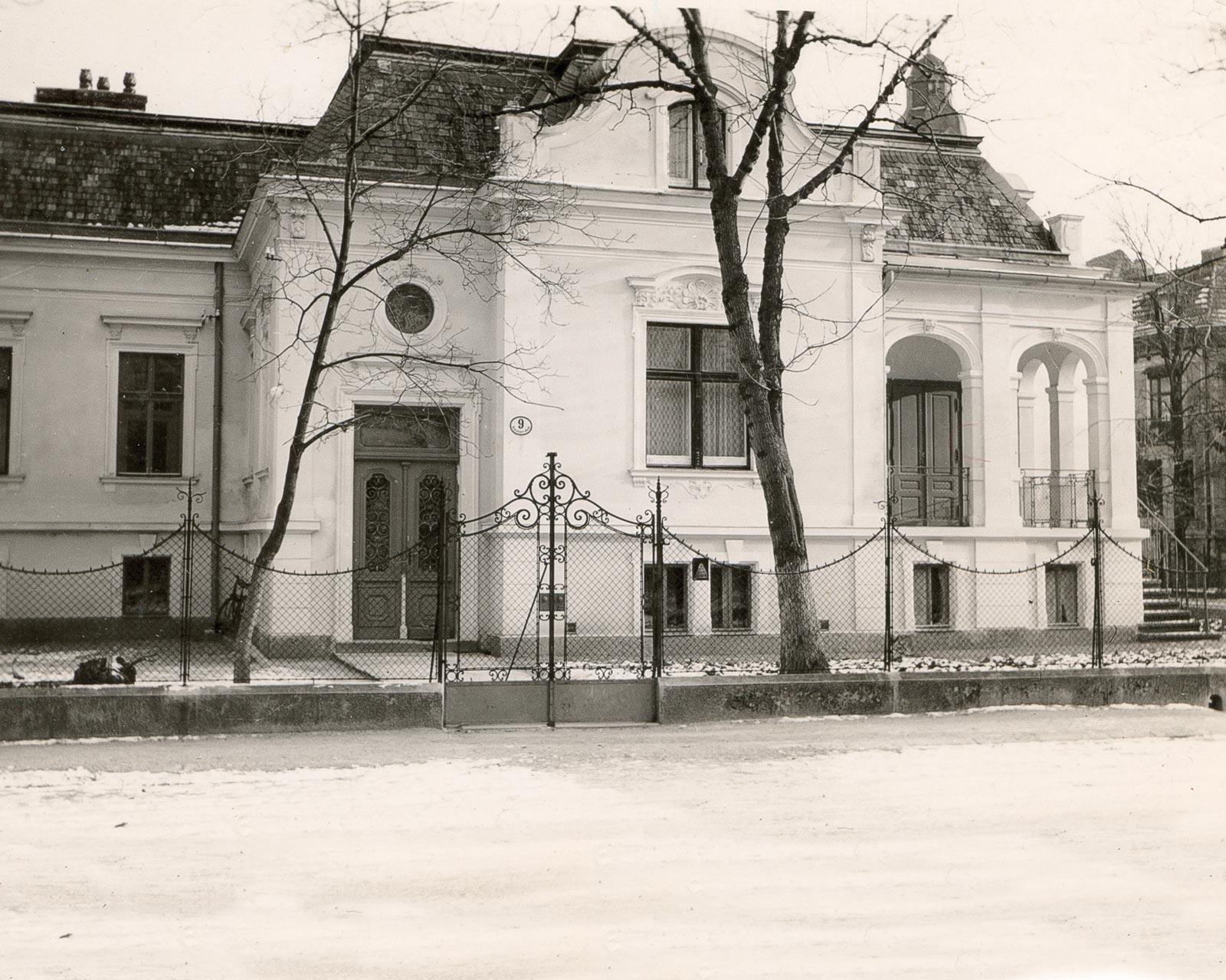 Historisches Foto der Schmidtvilla Baden